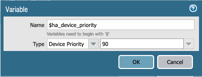 Device priority using a variable