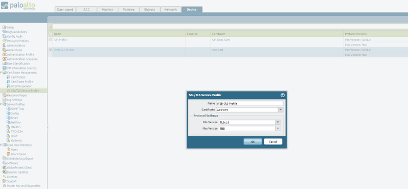 Palo Alto Networks Knowledgebase: How to configure a certificate for ...