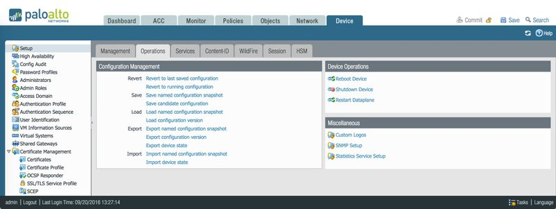 Palo Alto Networks Knowledgebase: Backing Up and Restoring