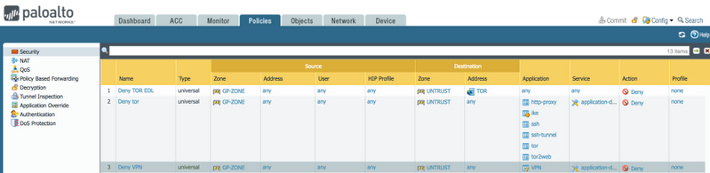 Palo Alto Networks Knowledgebase: How to Block Tor (The Onion Router)