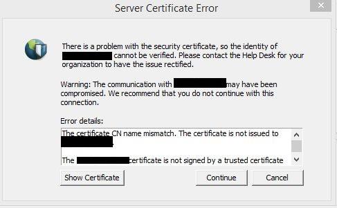 Palo Alto Networks Knowledgebase: Error: Certificate CN mismatch ...