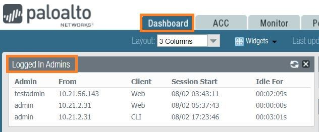 Palo Alto Networks Knowledgebase: How to clear existing Admin sessions