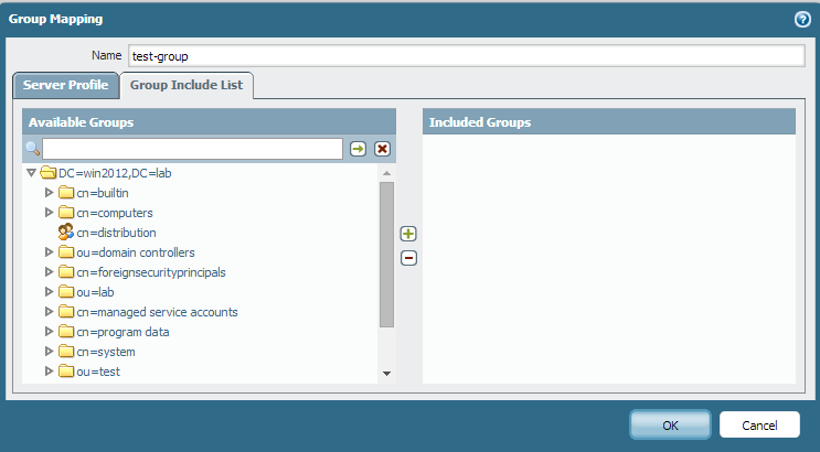 Palo Alto Networks Knowledgebase: Groups are Displayed in