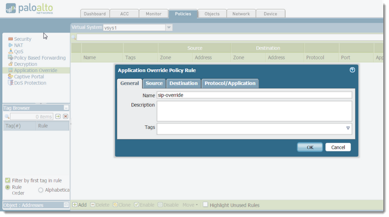 Palo Alto Networks Knowledgebase: SIP Application Override