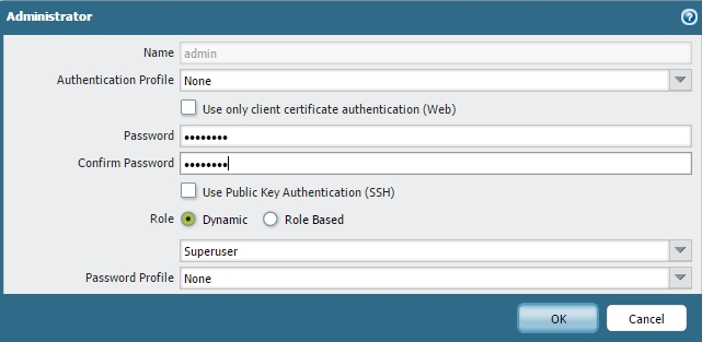 Palo Alto Networks Knowledgebase: Update the Local admin