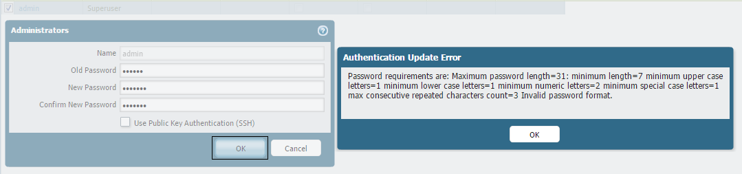 Palo Alto Networks Knowledgebase: Administrators are Unable