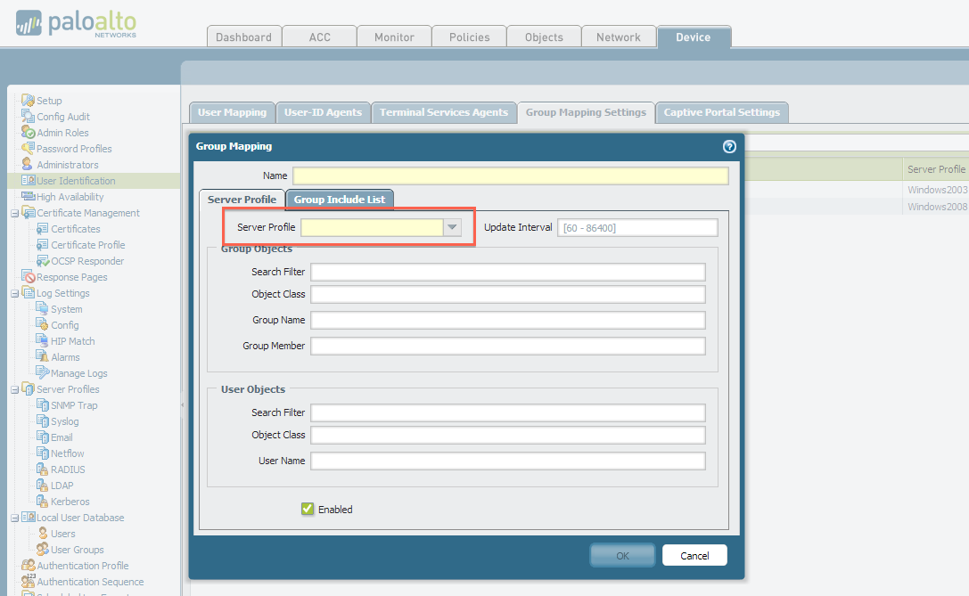 Palo Alto Networks Knowledgebase: Cannot Pull Groups from