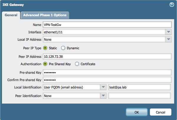 Palo Alto Networks Knowledgebase: IPSec VPN Tunnel with Peer Having
