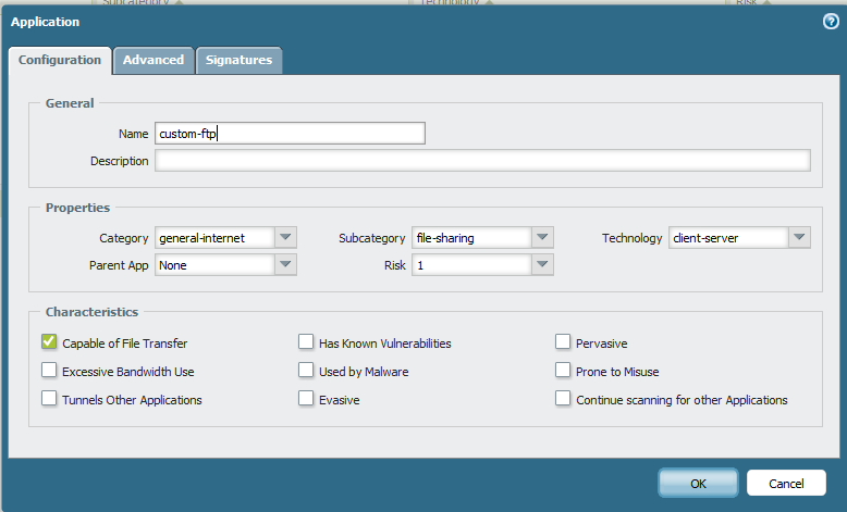 Palo Alto Networks Knowledgebase: How to Create an Application