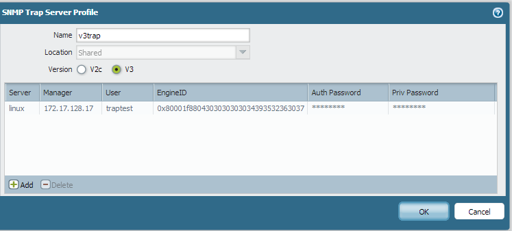 Palo Alto Networks Knowledgebase: How to Configure Sending SNMPv3 Traps