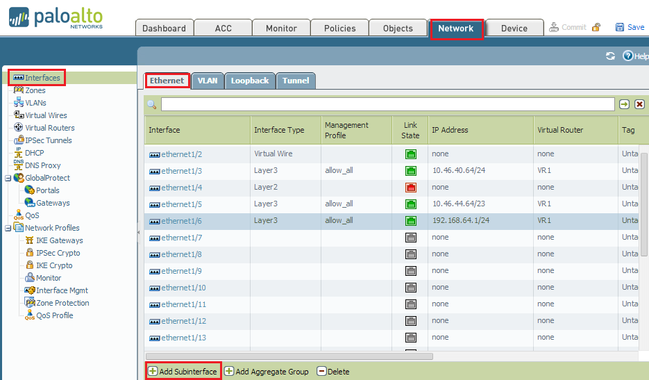 Palo Alto Networks Knowledgebase: How to Create Tagged Sub