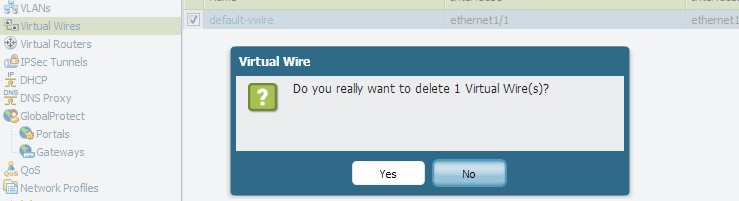 Palo Alto Networks Knowledgebase: How to Delete the Default ... Wire Configuration on
