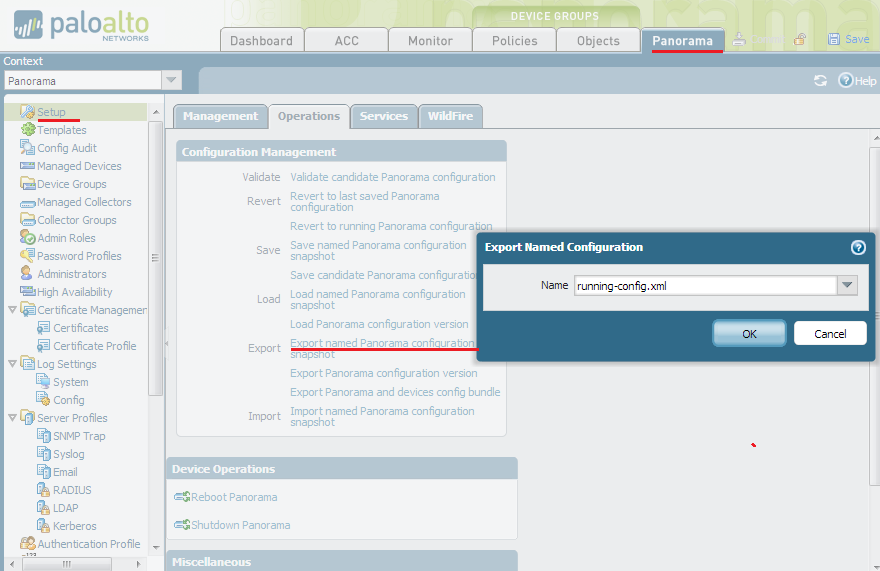 Palo Alto Networks Knowledgebase: How to Back up Panorama