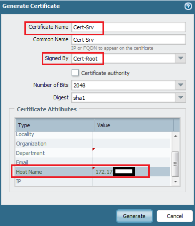 Palo Alto Networks Knowledgebase: Workaround for Certificate