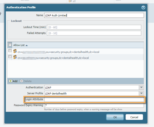 Palo Alto Networks Knowledgebase: Invalid Username/Password when