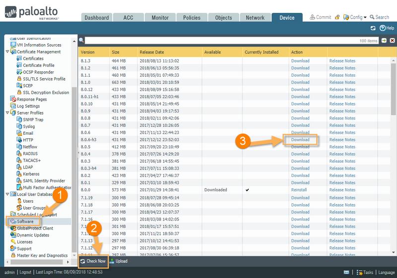Palo Alto Networks Knowledgebase: Software Download Error