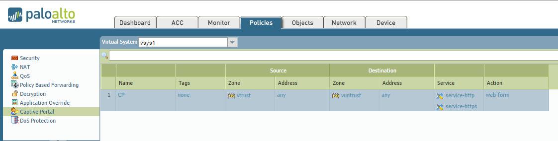 Palo Alto Networks Knowledgebase: Captive Portal Using Transparent