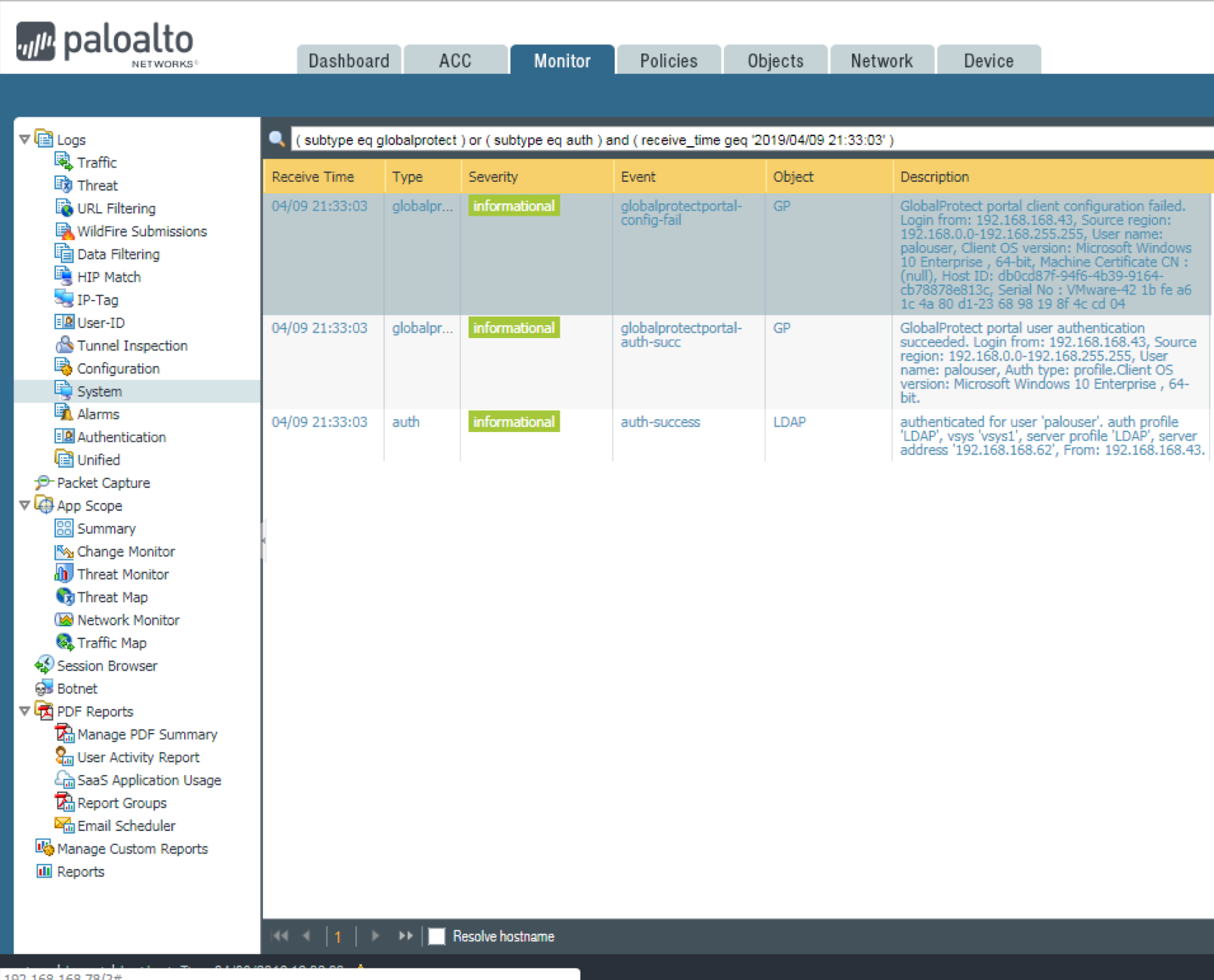 Palo Alto Networks Knowledgebase: Connection to