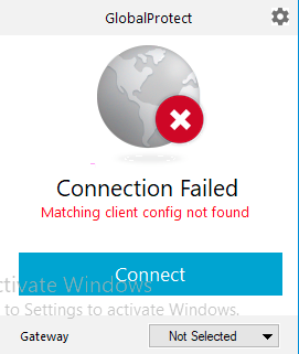 Globalprotect Vpn Matching Client Config Not Found