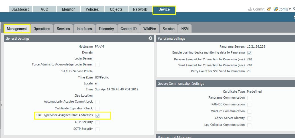 Palo Alto Networks Knowledgebase: Different MAC Address on