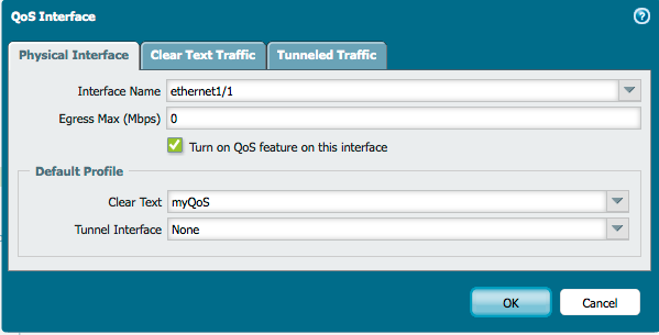 QoS interface