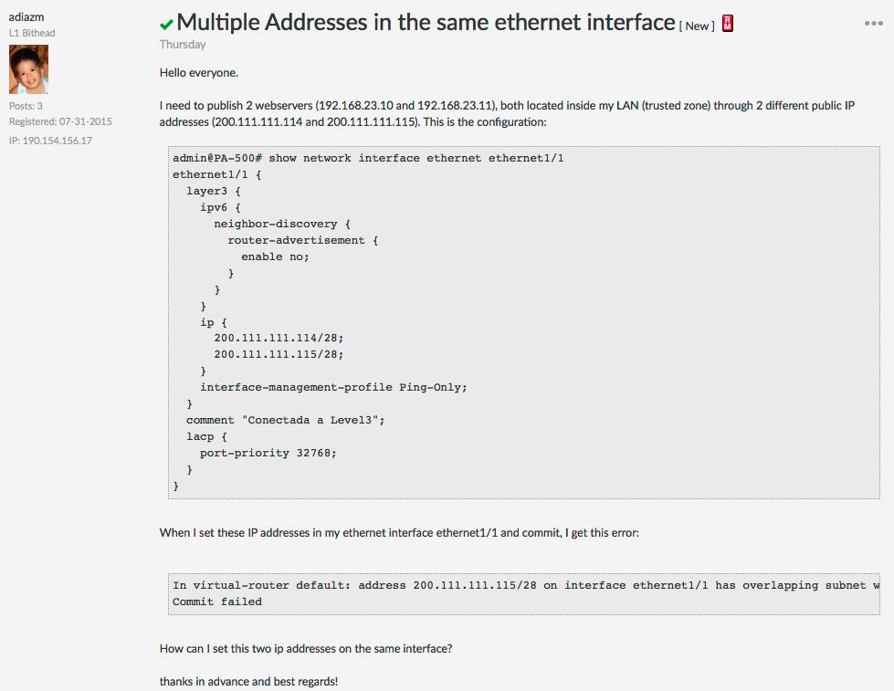 Palo Alto Networks Knowledgebase: DotW: Multiple IP Addresses on an
