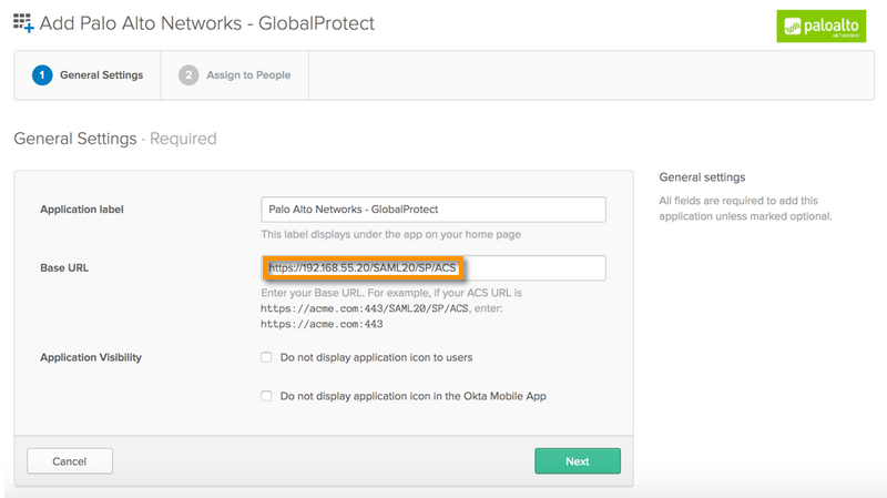 Palo Alto Networks Knowledgebase: GlobalProtect Clientless VPN SAML