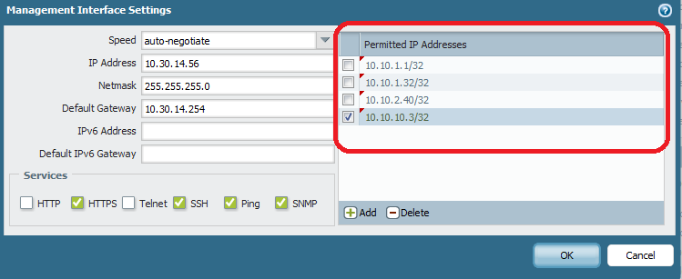 Palo Alto Networks Knowledgebase: How to Restrict the IP