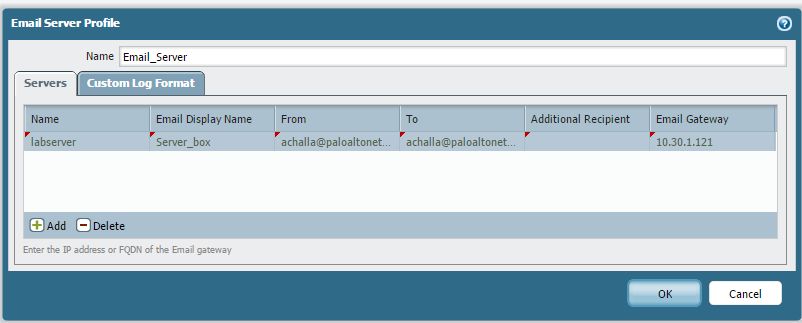 Palo Alto Networks Knowledgebase: How to Configure Email Alerts for