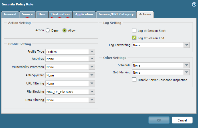 Palo Alto Networks Knowledgebase: How to Block Application and Image