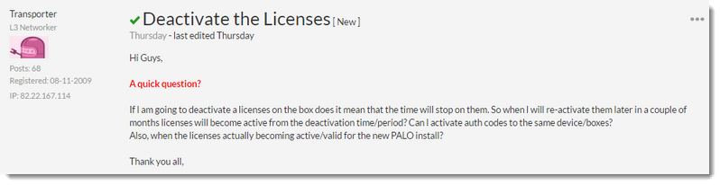 Palo Alto Networks Knowledgebase: DotW: Deactivating and Showing