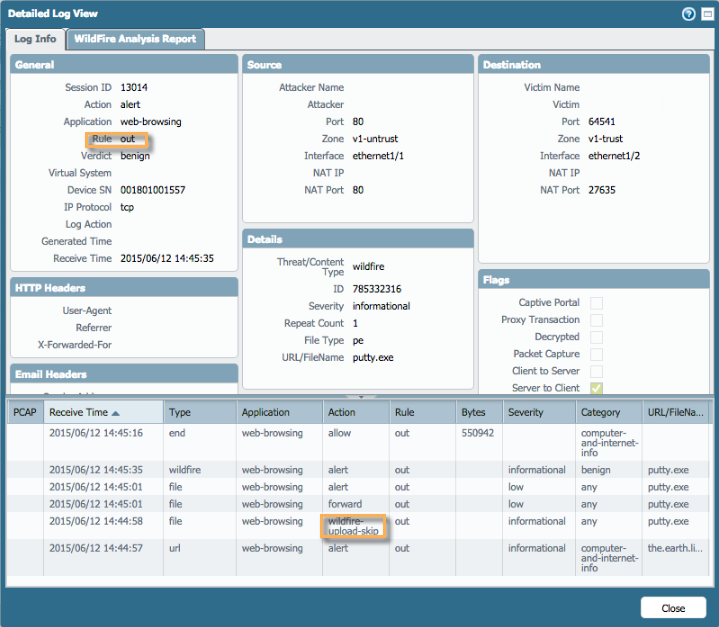 Palo Alto Networks Knowledgebase: Wildfire Configuration, Testing