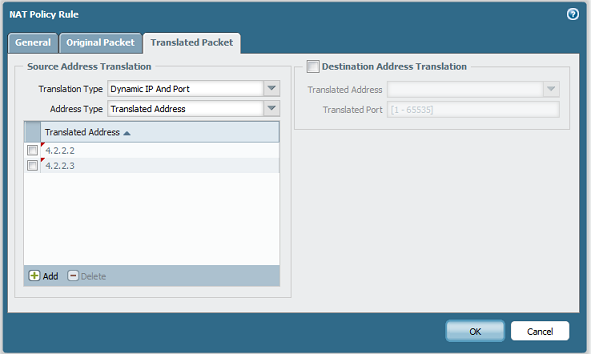 Palo Alto Networks Knowledgebase: Source NAT Translation