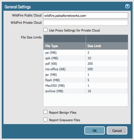 Palo Alto Networks Knowledgebase: How to Set the Maximum File Size