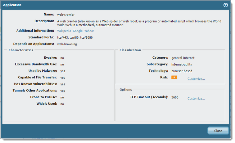 Palo Alto Networks Knowledgebase: How to Allow Googlebot and other