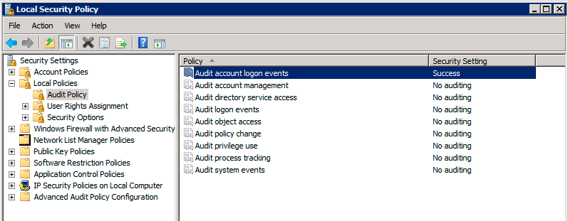 active directory local security policy