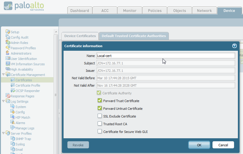 Palo Alto Networks Knowledgebase: How to Implement and Test SSL