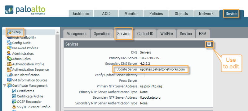 Palo Alto Networks Knowledgebase: Dynamic Update Fails with