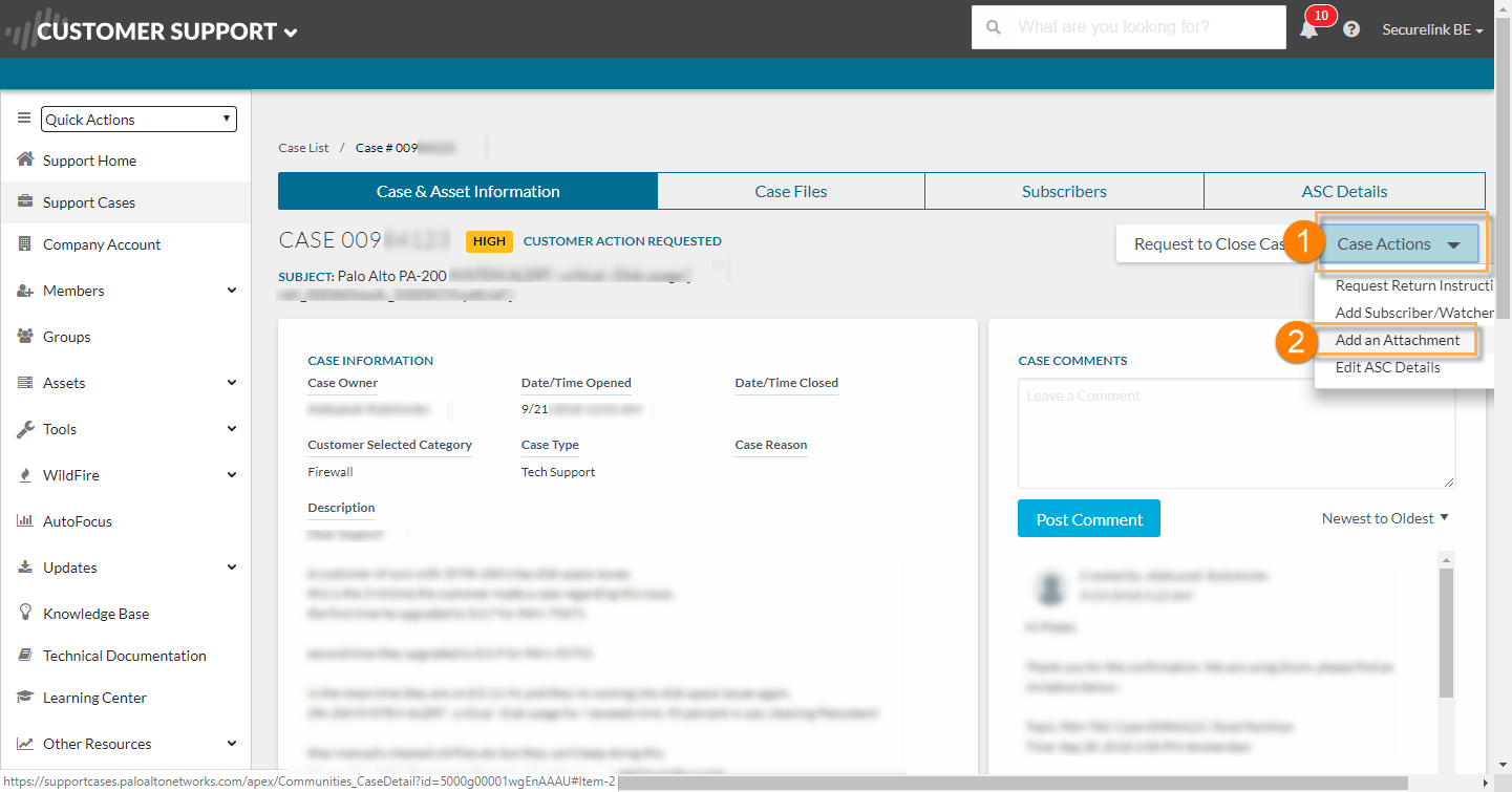 Palo Alto Networks Knowledgebase: How to Generate and Upload a Tech
