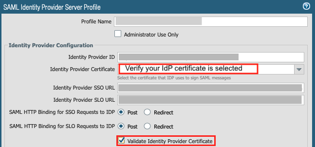 Once a CA-issued certificate has been configured on your IdP, you must re-register the IdP within PAN-OS and Panorama.